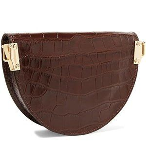 My Bag Lady Online Bags - Croc Embossed Crossbody Saddle Bag